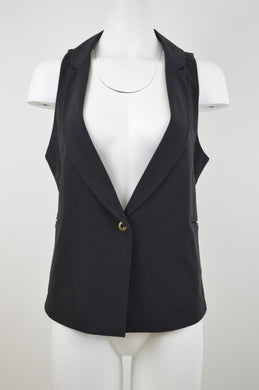 Low Front Collared One Button Vest