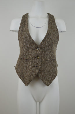 Herringbone Three Button Two Strap Vest