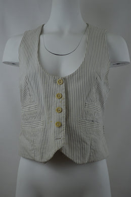 Striped Five Button Vest