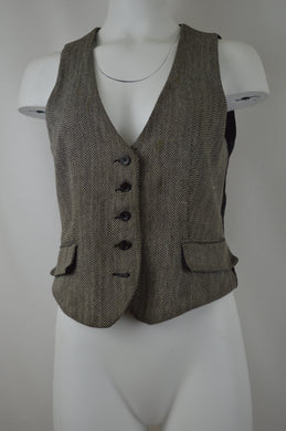 Five Button Herringbone Vest