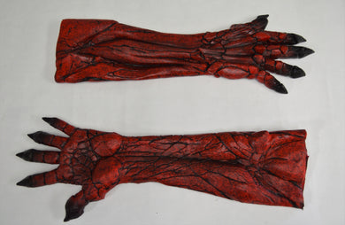 Silicone Demon Long Gloves
