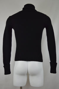 Ribbed Hem Turtle Neck