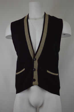 Knit Three Button Vest