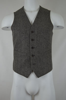 Striped Back Six Button Vest