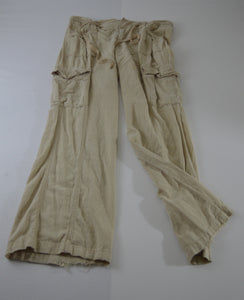 Wide Leg Drawstring Pants w/ Patch Pockets
