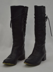 Knee High Back Laced Boots