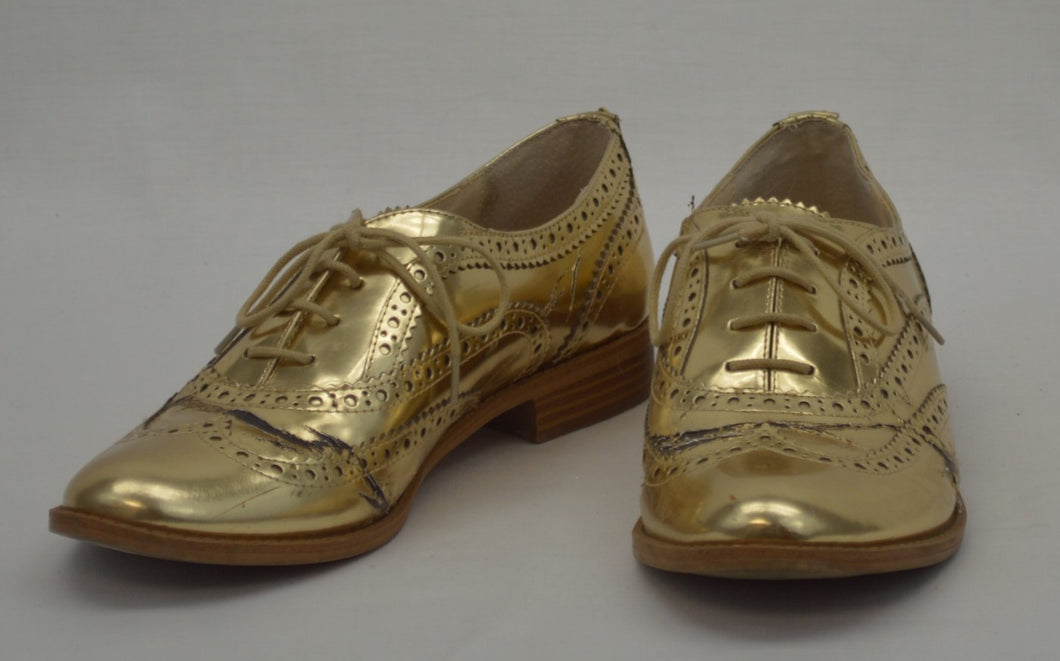 Gold Brogues