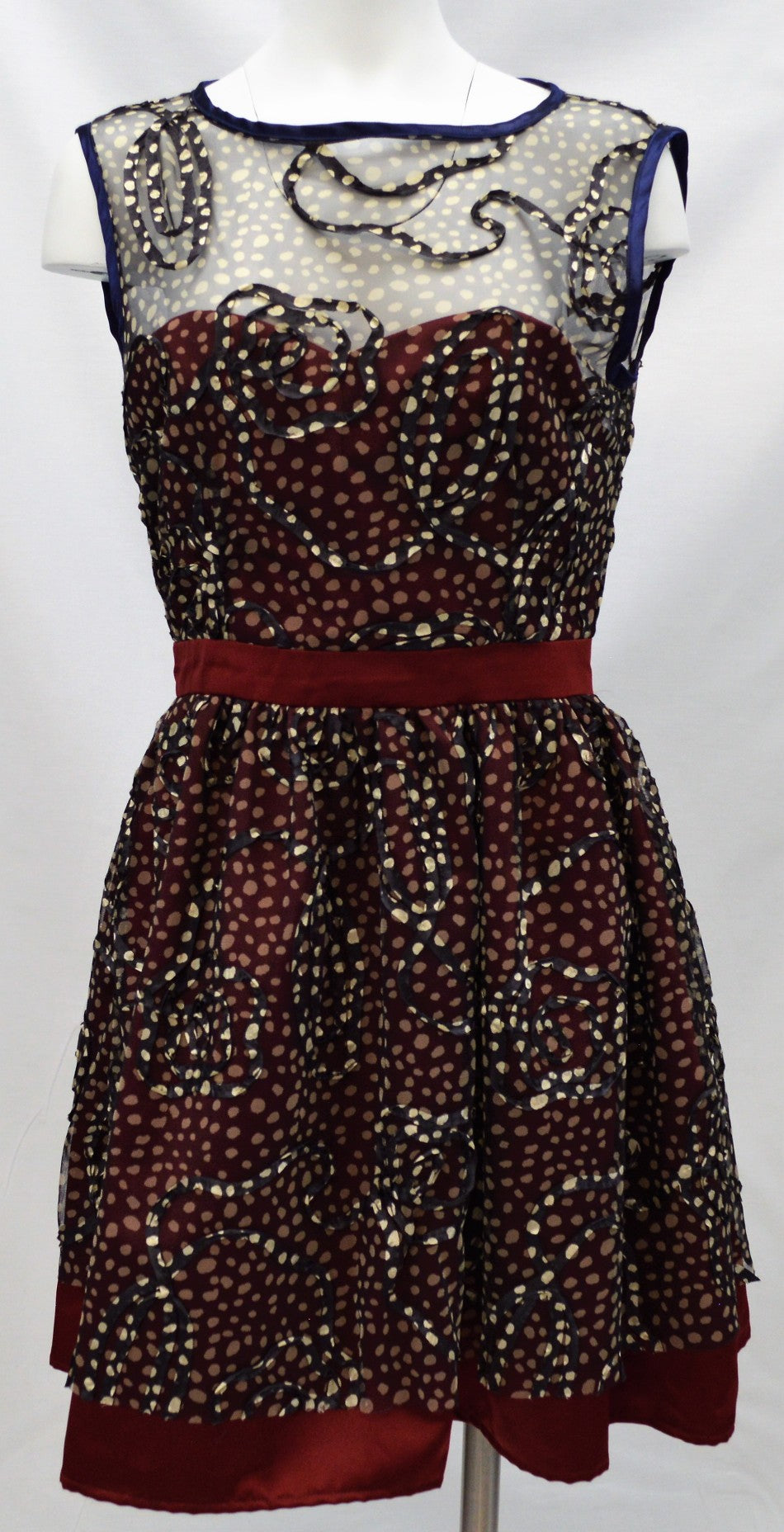 Sheer Dotted Dress