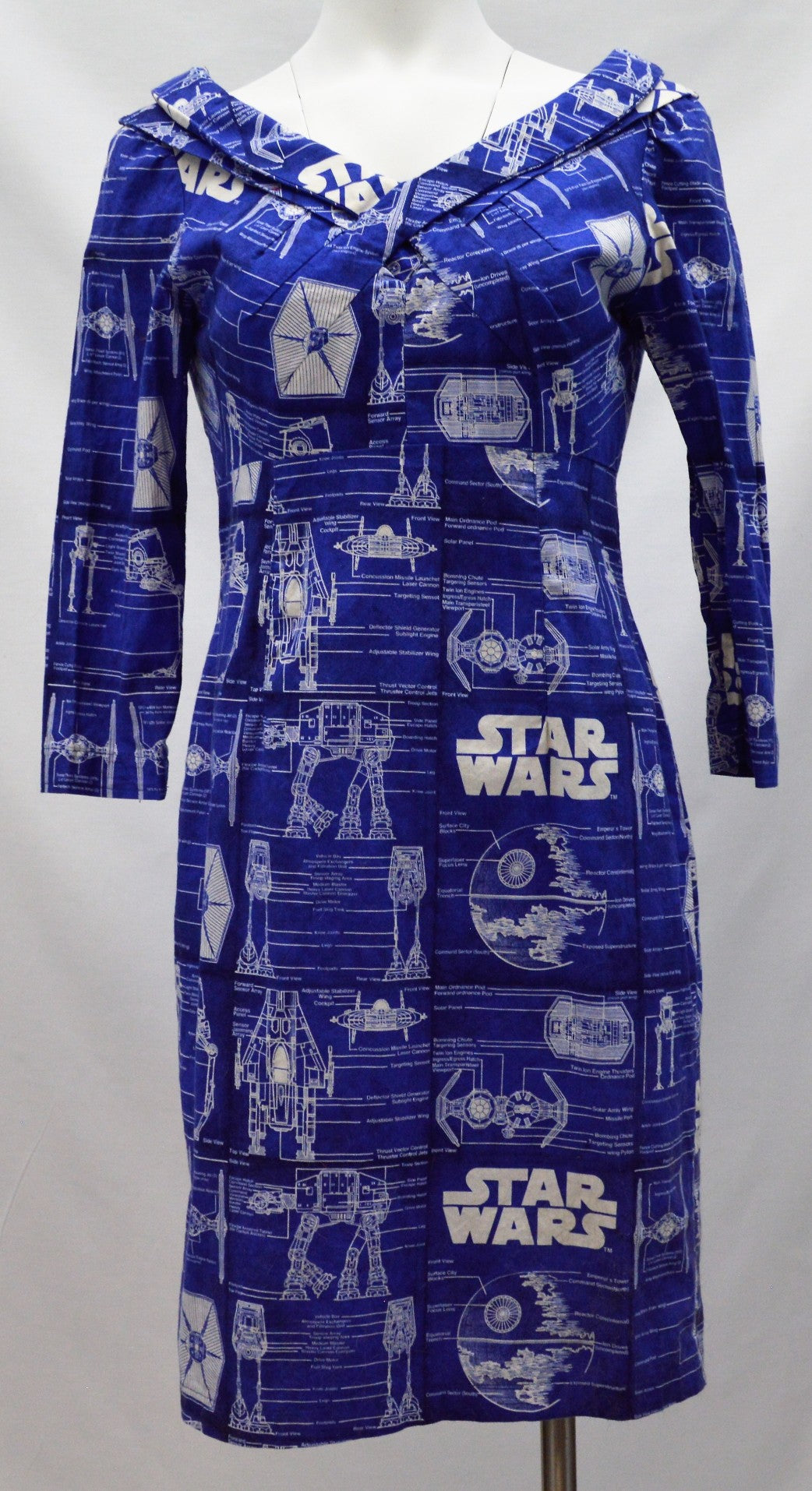 Novelty Blueprint Dress
