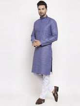Load image into Gallery viewer, Jompers Men Blue Embroidered Kurta Only ( KO 619 Blue )