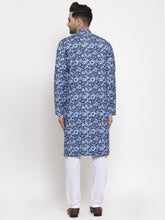 Load image into Gallery viewer, Jompers Men Blue Printed Kurta Only