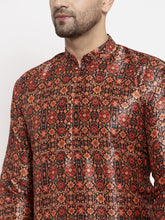 Load image into Gallery viewer, Jompers Men Multi-colour Printed Kurta Only ( KO 624 Multi_Black )