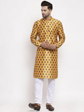 Load image into Gallery viewer, Jompers Men Yellow Printed Kurta with Pyjamas