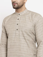 Load image into Gallery viewer, Jompers Men Grey Self Design Kurta Only