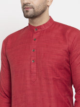 Load image into Gallery viewer, Jompers Men Maroon Self Design Kurta with Pyjamas