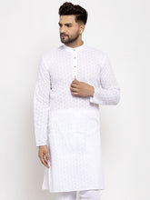 Load image into Gallery viewer, Jompers Men White Chikan Kurta Only
