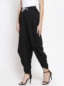 Jompers Women Black Solid Dhoti