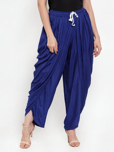 Jompers Women Royal-Blue Solid Dhoti (JOD 2129 Royal)