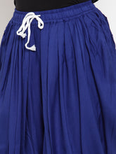 Load image into Gallery viewer, Jompers Women Royal-Blue Solid Dhoti (JOD 2129 Royal)
