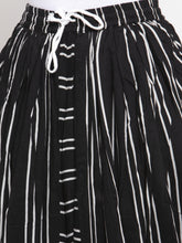 Load image into Gallery viewer, Jompers Women Black Stripped Dhoti (JOD 2130 Black)