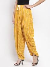 Load image into Gallery viewer, Jompers Women Mustard Stripped Dhoti