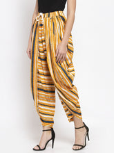 Load image into Gallery viewer, Jompers Women Yellow and Blue Stripped Dhoti (JOD 2131 Yellow)
