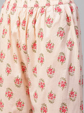 Load image into Gallery viewer, Jompers Women Pink Floral Printed Kurta with Palazzos
