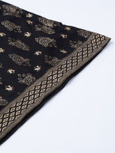 Load image into Gallery viewer, Women Black & Golden Block Printed Kurta with Palazzos ( JOKPL 1345 Black )