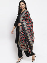 Load image into Gallery viewer, Jompers Women Black & Red Solid Kurta with Palazzos & Dupatta
