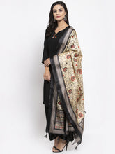 Load image into Gallery viewer, Jompers Women Black & Red Solid Kurta with Palazzos & Beige-Red Printed Dupatta