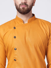 Load image into Gallery viewer, Men Yellow Solid Kurta with Churidar
