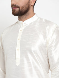 Jompers Men White Solid Kurta with Churidar