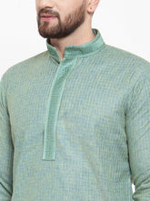 Load image into Gallery viewer, Jompers Men Sea Green & White Embroidered Kurta with Churidar ( JOKP 617 Sea-Green )