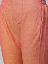 Load image into Gallery viewer, Jompers Women Pink Yoke Design Kurta with Trousers (JOKS 1321 Pink)