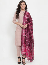 Load image into Gallery viewer, Jompers Women Pink Solid Kurta with Trousers & Dupatta (JOKS D8P 1332 Pink)