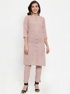 Jompers Women Pink Solid Kurta with Trousers & Dupatta (JOKS D8P 1332 Pink)