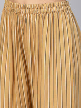 Load image into Gallery viewer, Jompers Women Beige & Black Striped Straight Palazzos