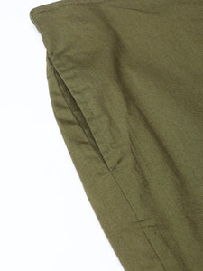Jompers Women Olive Green Smart Fit Solid Bottom Flared Trousers