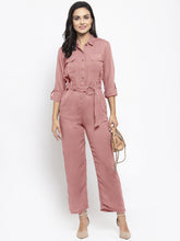 Load image into Gallery viewer, Jompers Women Purple Solid Jumpsuit