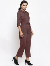 Load image into Gallery viewer, Jompers Women Brown Solid Jumpsuit