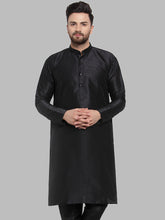 Load image into Gallery viewer, Jompers Men Black Solid Kurta Only