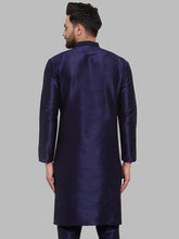 Load image into Gallery viewer, Jompers Men Navy-Blue Solid Kurta Only ( KO 591 Navy )