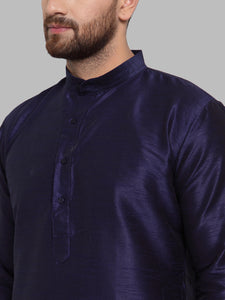 Jompers Men Navy-Blue Solid Kurta Only ( KO 591 Navy )