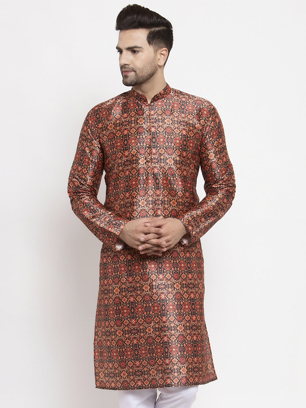 Jompers Men Multi-colour Printed Kurta Only