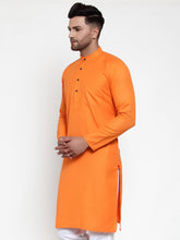 Load image into Gallery viewer, Orange & White Solid Kurta Only