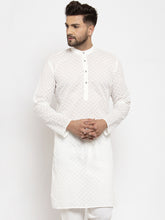 Load image into Gallery viewer, Jompers Men Cream Chikan Kurta Only ( KO 561 Cream )