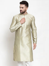 Load image into Gallery viewer, Jompers Men Beige & White Self Design Kurta Only ( KO 589 Beige )
