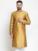 Load image into Gallery viewer, Jompers Men Mustard & White Self Design Kurta Only