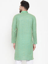 Load image into Gallery viewer, Jompers Men Sea Green & White Embroidered Kurta Only ( KO 617 Sea-Green )