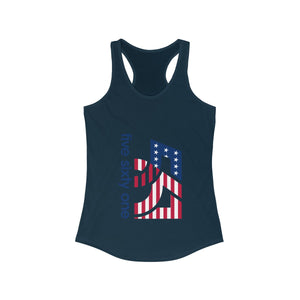 Five Sixty One Ladies Racerback Tank Top - America Logo